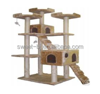 73-Inch Cat Tree Scratcher Play House Condo Furniture Toy Bed Post Pet House