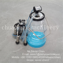 25KG Visible Plastic Milking Pail With Milking Cluster and Pulsator and Tube