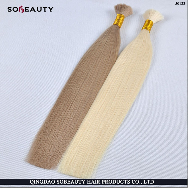 YBY unwefted bulk virgin hair for braiding, brazilian bulk hair extensions without weft, wholesale human hair bulk