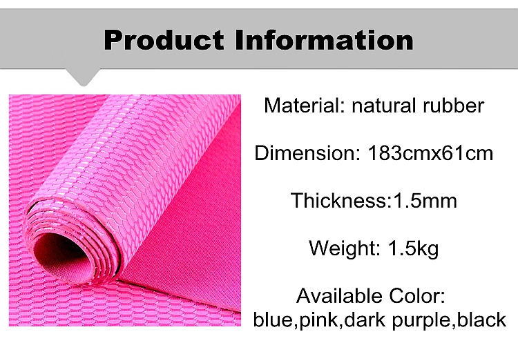 2017 New Arrival portable natural rubber yoga mat