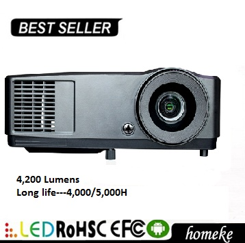 Newest Portable Home Mobile Theater education DLP Projector