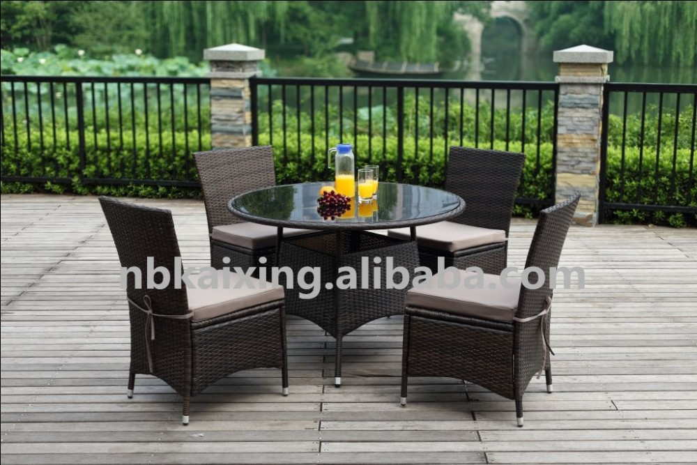 Outdoor synthetic rattan patio furniture garden Synthetic wood patio furniture