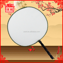 Chinese sikl fan fancy diy blank hand fans TS102-6