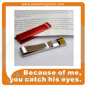 Custom logo, metal clip USB flash drive 2gb