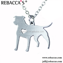 dog paw print heart shaped metal necklace,love my pet dog metal necklace