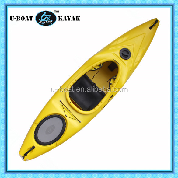 single whitewater not fiberglass transprent kayak