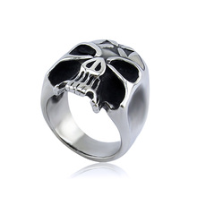casting design jewelry cheap wholesale men stainless steel skull ring