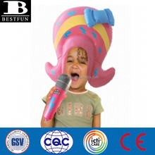 inflatable toy factory Inflatable Princess Wig plastic funny hair wigs for kids