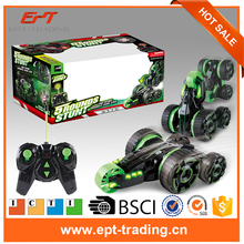 Crazy plastic electric kids rc stunt car for sale