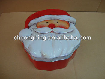 Father Christmas tin box