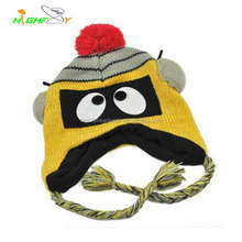 High quality and comfortable oem custom crochet cartoon beanie hat winter cap for children