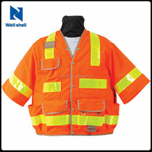 ANSI Class 4 Pockets Reflective Vest Hi Vis Safety Work Vest