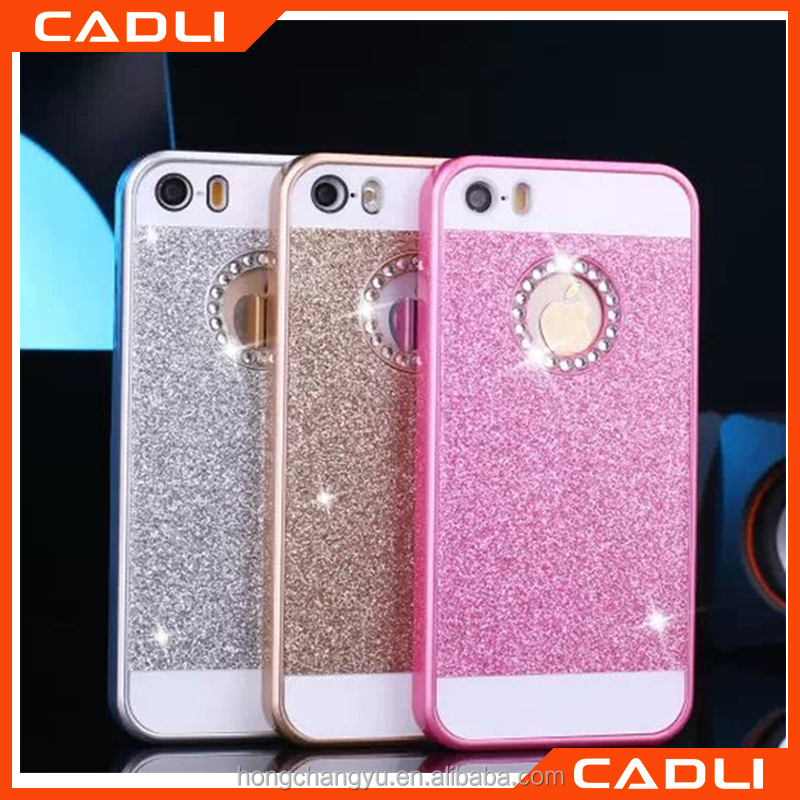2016 New design Bling Rhinestone Diamond Case For iphone 5 5 s Slim Hard Back Accessories Glitter Cover