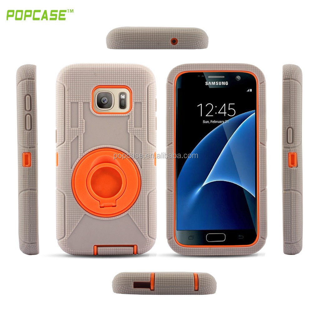 Hot sales mobile phone accessories PC+Silicone function case for S7