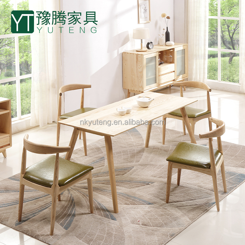 Home Furniture Solid Wood Dining Room Wood Table Set
