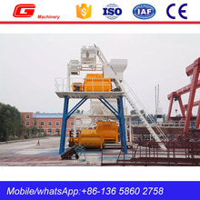 Hot sale portable 50m3/h concrete mixing plant with air Cylinder unloading