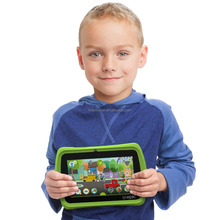 "Top Kids' Shockproof Silicone Rugged Anti-slip Rubber Defender Armor Cover Case for 7"" Android Tablet"