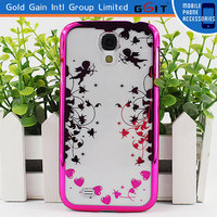 Electroplating Way for Samsung S4 i9500 Back Cover PC Case, Hot Sale for Samsung S4 i9500 PC Hard Case