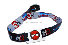 2016 hot sale one use custom wristband/fabric festival wristband/polyester wristband for sport & event