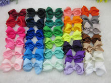 32colors 3inch Grosgrain Ribbon Hair Bows With Clip Baby Hairbow Boutique Bow for Children Hair Accessories IN STOCK