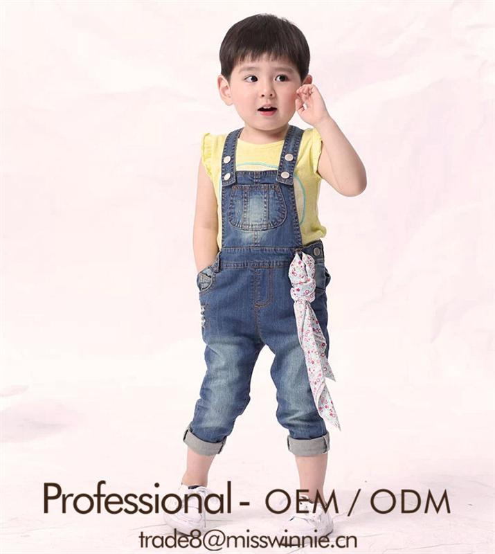 baby girl lovely look jean pants denim overalls for young girls