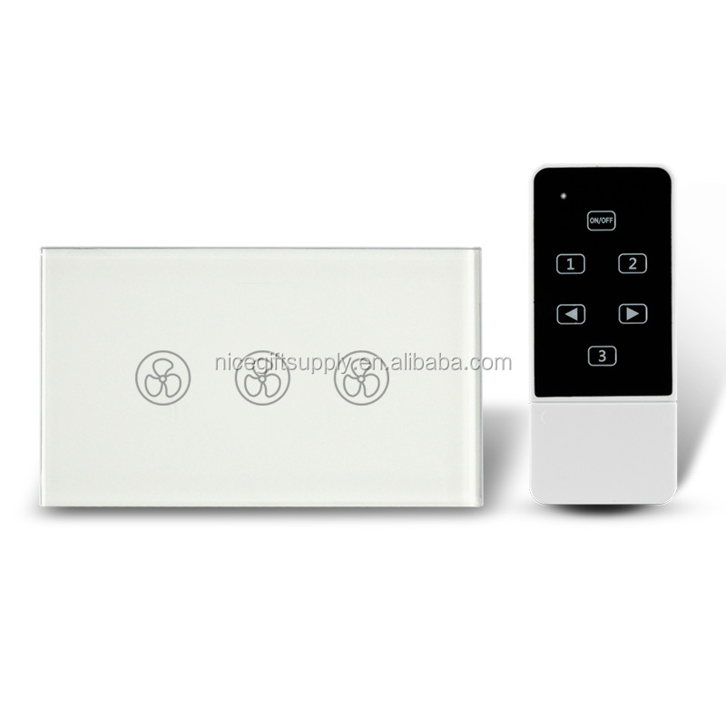 US UK EU AU Fans Home Touch Remote Switch Intelligent Control Wall On-off for Home Office Smart Home Touch Switch Smart Wall