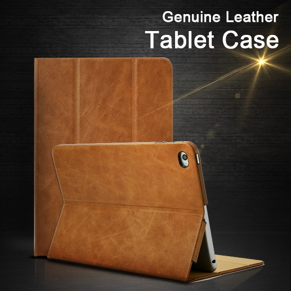 Turkey Genuine Oil Wax Leather Businessman Camel Android Tablet Cases 7.9 inch For Ipad Mini 4