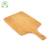 Custom cheap heat resistant bamboo cutting board with handle