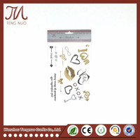 Non-toxic Temporary Tattoo Sticker Sexy Body Metallic Tattoo Sticker