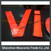 led channel letter signs with acrylic front light and metal back board