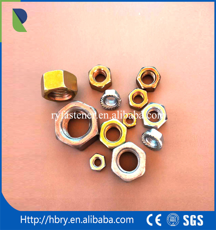 DIN 985 Din 982 white-blue zinc plated nylon lock nut