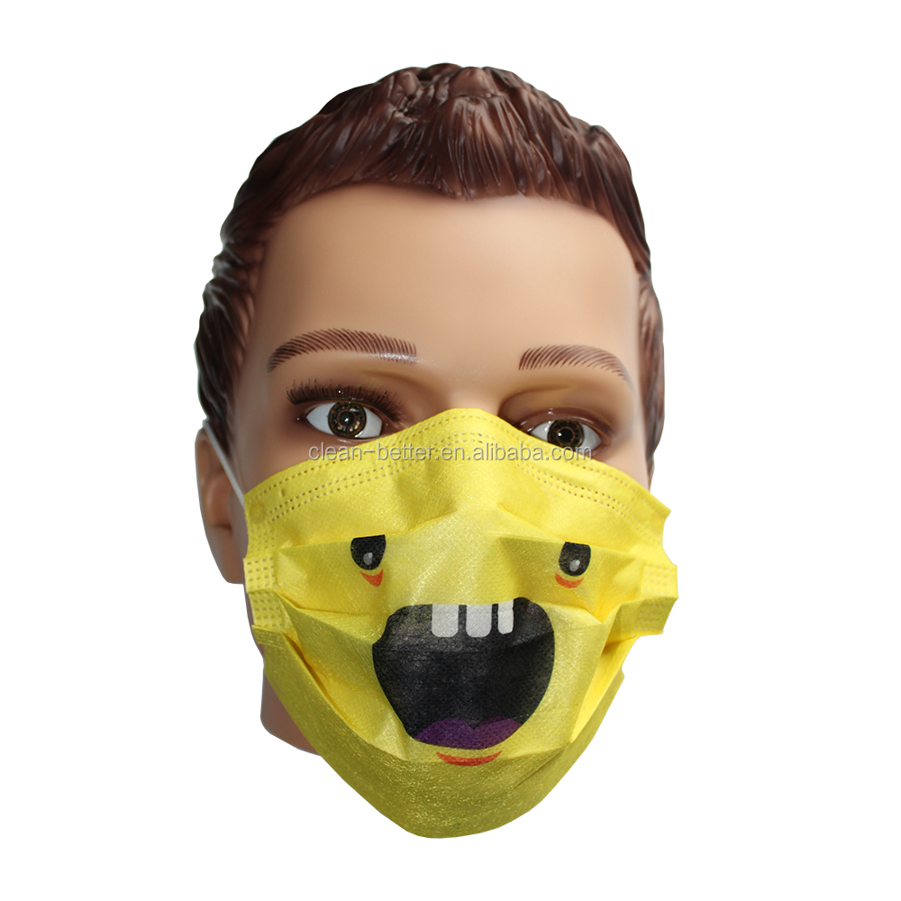 Wholesale PP nonwoven child face mask disposable custom printed surgical mask
