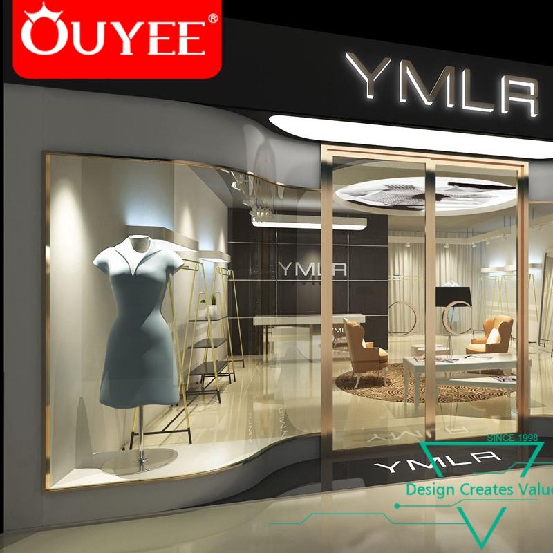 Fashion Retail Garment Display Store Furniture Exterior Ladies Shop  Decoration Design