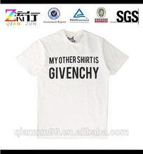 Eco-Friendly mens t-shirt,white cotton plus size t-shirt,whosesale o-neck t-shirt