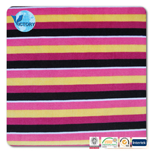 100% Polyester Printed Stripe Imitate Velour Knitted Fabric made in Suzhou