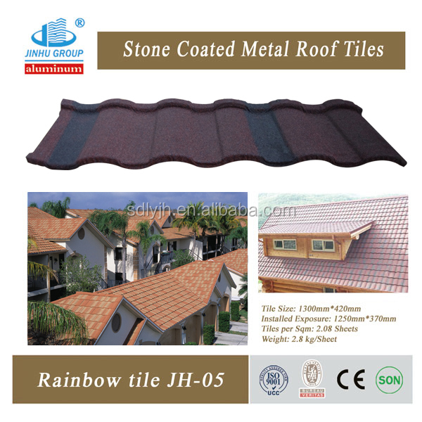 Roof panels sand coated metal roofing tiles