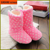 sweet dot fluffy faux fur women soft fleece boot