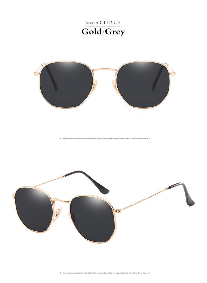 HTB18dRJgL6H8KJjy0Fjq6yXepXaH - Sweet CITRUS Hexagonal Aviation Coating Mirror Flat Lens Sunglasses Men Brand Designer Vintage Pink Driving Sun Glasses Women