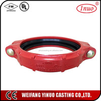 FM UL pipe fitting ductile iron coupling flexible couplings