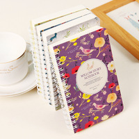 Cute School Diary Notebook Paper Spiral