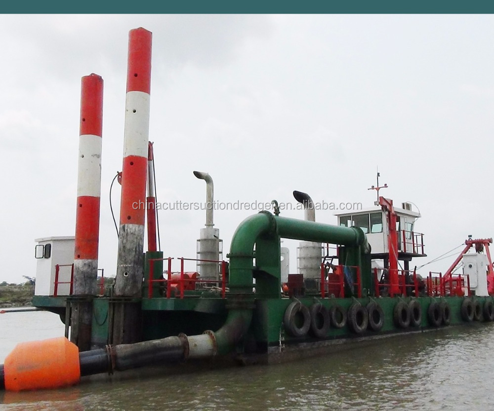 JMD500 1,000cbm/h Cutter suction dredging boat with cutter suction dredger type and new