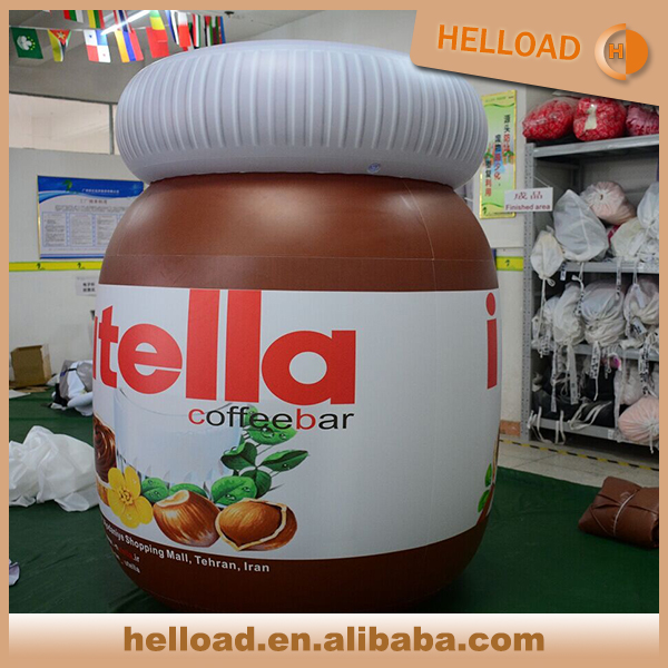 Outdoor commercial promotional inflatable nutella jar replica for promotion