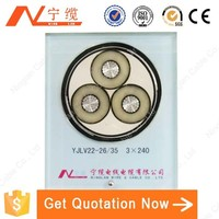 3core 26/35kV YJLV22 3*240mm Electric Power Cable