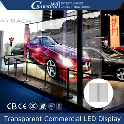 oled screen transparent glass led display