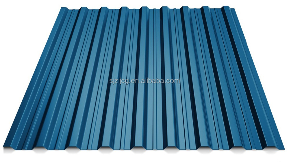 Good condition pre-painted corrugated steel roofing tiles color coated corrugated metal sheet roof T18