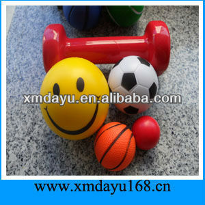 Smile Face PU Stress Ball PU Foam Ball Toys