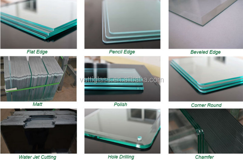 Clear tempered glass 12mm toughened glass for tempered glass fence panels