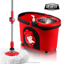 360 easy spin plastic mop bucket with wheels