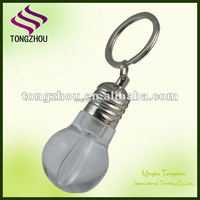 Promotional bulb logo printed light keychain