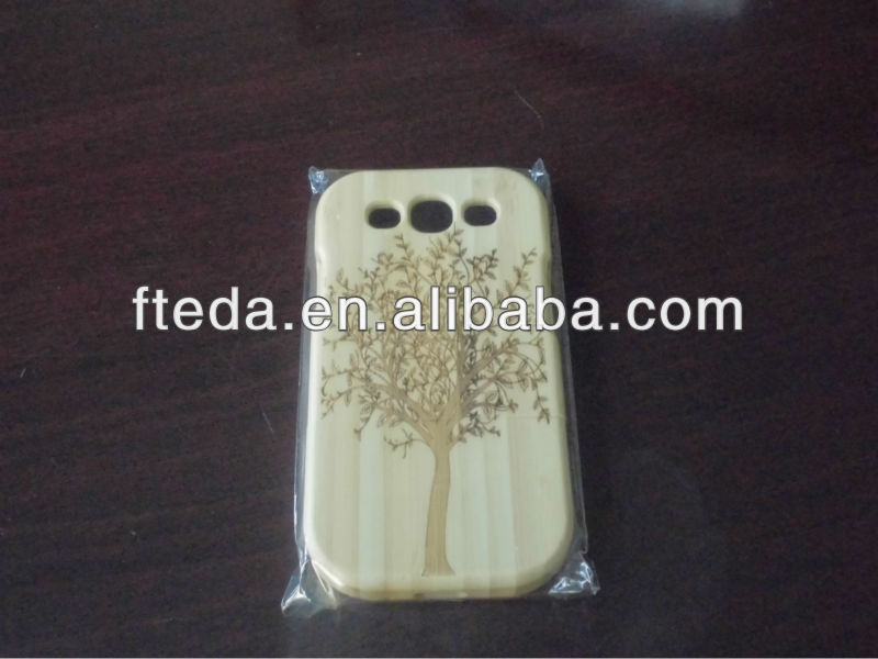 Bamboo Material Case for Samsung Galaxy S3 i9500